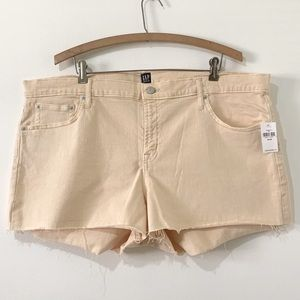 NWT Gap Cutoff Shorts Light Yellow Size 20